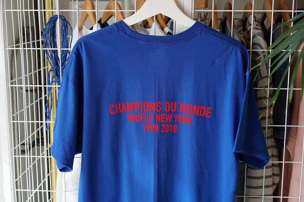 MIDFLD Champion Du Monde T-Shirt - Royal Blue