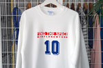 MIDFLD Champion ZIZOU 10 Red Stripe Crewneck - White