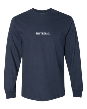 MIDFLD Find The Space & Unite Long Sleeve T-Shirt - Navy