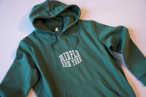 MIDFLD New York Monogram Logo Organic Cotton Hoodie - Bayberry