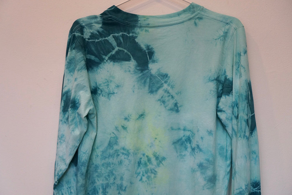MIDFLD New York -  Roll Away Tie-Dye Experiment - Long Sleeve - Teal/Green/Neon