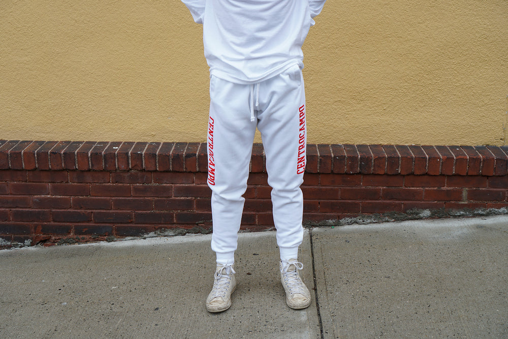 MIDFLD Centrocampo Joggers - White/Red