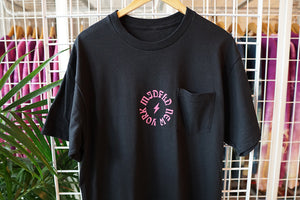 MIDFLD New York Lightning Pocket Tee - Black/Pink