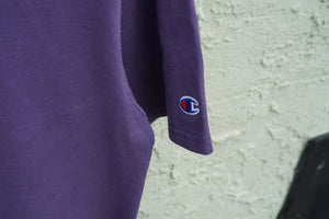 MIDFLD Champion™ - Garment Dyed Short Sleeve T-Shirt - Grape