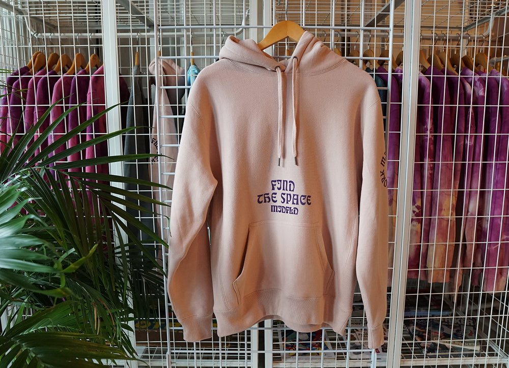 MIDFLD Find The Space Heavyweight Hoodie - Dusty Pink/Purple