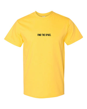MIDFLD Find The Space & Unite Short Sleeve T-Shirt - Yellow