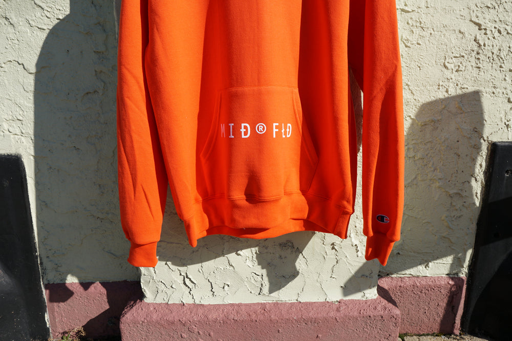 MIDFLD Champion™ M I D ® F L D Logo Hoodie - Orange