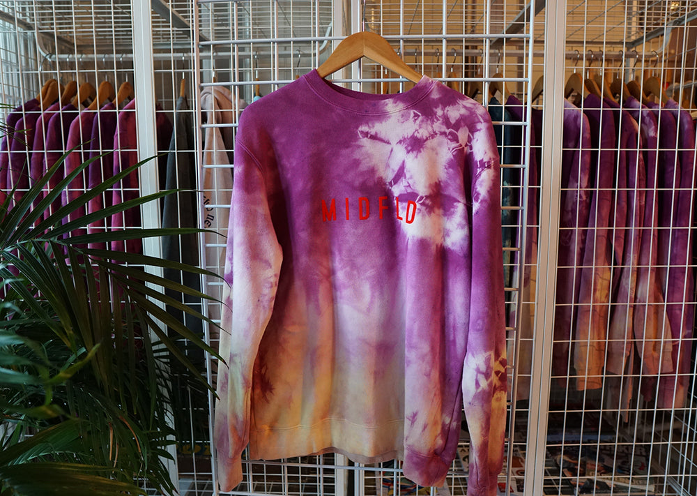 MIDFLD Roll Away Circle Tie-Dye Crewneck