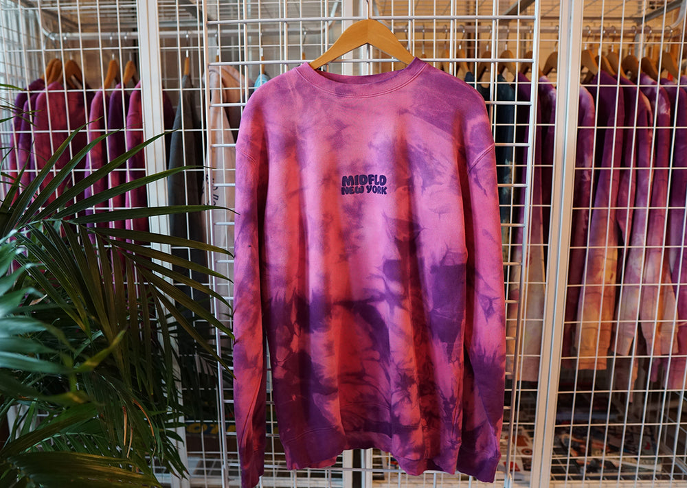 MIDFLD New York Tie-Dye Crewneck