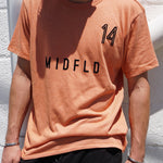 MIDFLD #14 Space T-shirt - Vintage Orange