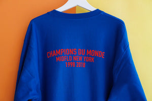 MIDFLD Champion Du Monde Crewneck - Athletic Royal