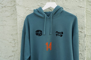 MIDFLD Spaced Out 14 Champion™ Garment Dyed Hoodie - Cactus Green