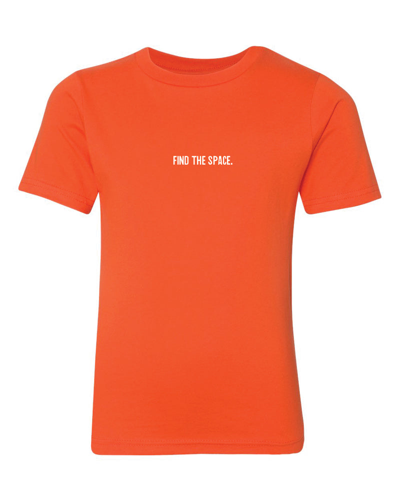 MIDFLD Find The Space & Unite Youth Short Sleeve T-Shirt - Orange