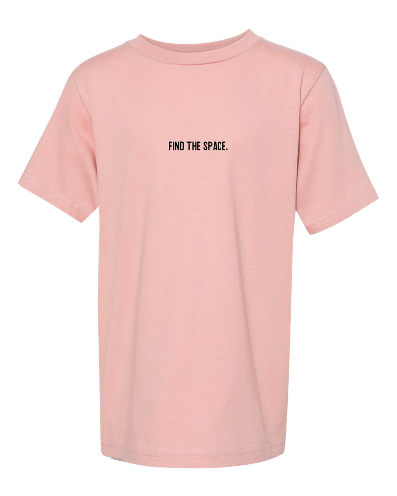 MIDFLD Find The Space & Unite Youth Short Sleeve T-Shirt - Desert Pink