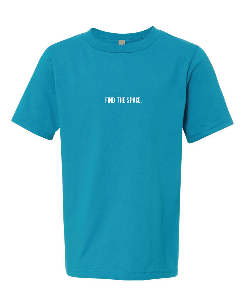 MIDFLD Find The Space & Unite Youth Short Sleeve T-Shirt - Turquoise