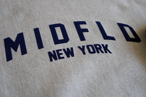 MIDFLD Champion™ NY Arc Logo Crewneck - Oxford Grey/Navy