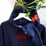 MIDFLD Champion™ Flag Logo Hoody - Navy/Red