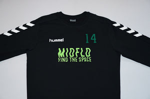 MIDFLD x Hummel - Attack in Waves Crewneck Training Top