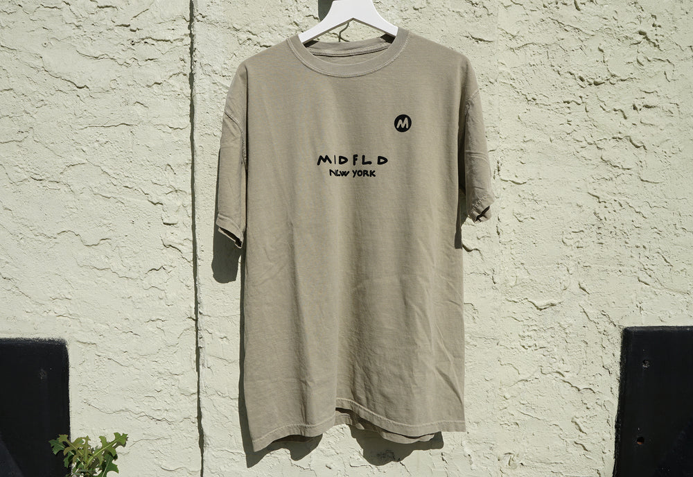 MIDFLD M New York T-shirt - Khaki
