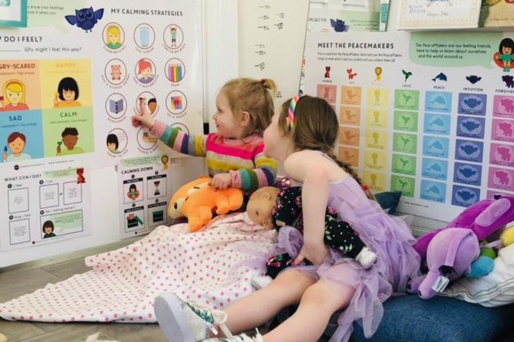 Preschooler Teaches Her Younger Sister About Emotions While Learning To Manage Her Own