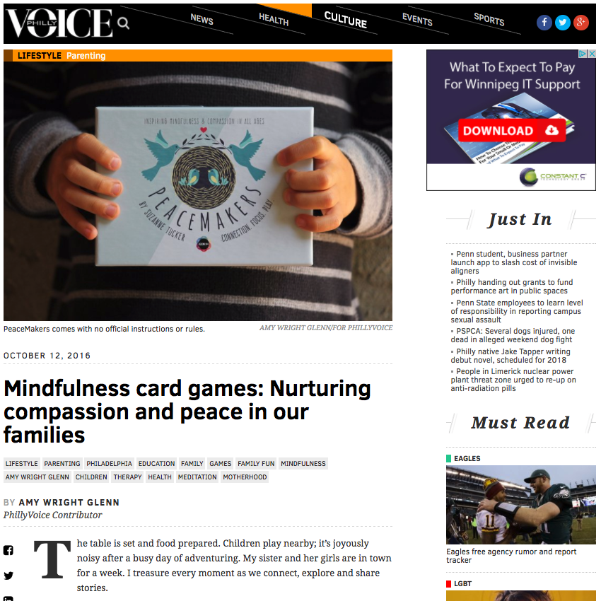 Philly Voice: Mindfulness Card Games: Nurturing Compassion and Peace in Our Families