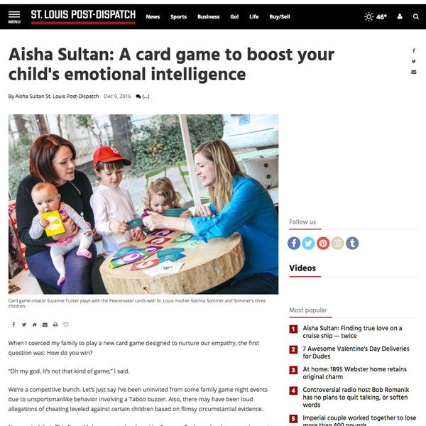 St. Louis Post-Dispatch: A Card Game to Boost Your Child's Emotional Intelligence