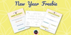 New Year's Intention Setting Freebie for Families
