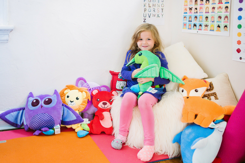 plush toy collection that teaches children how to name their feelings