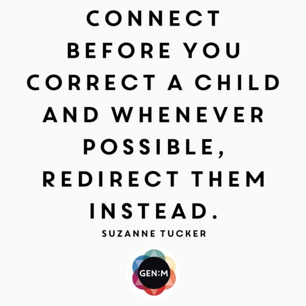 connect before you correct a child