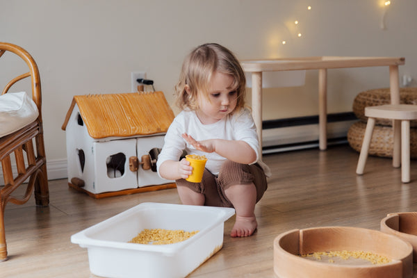 Child engaging in sensory play