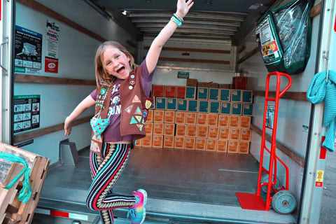 8-Year-Old Cancer Survivor Breaks Girl Scout Cookie Record Selling 32,484 Boxes