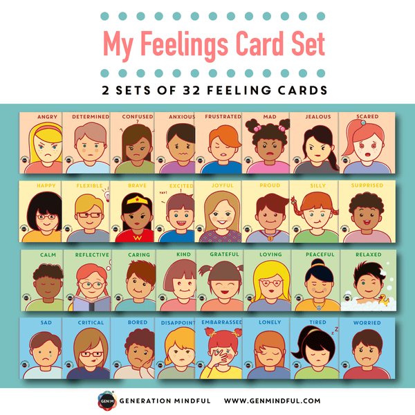 My Feelings Card Set (REWARD ADD-ON) - 2 sets of 32 feeling cards