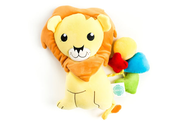 snuggle buddy yellow lion