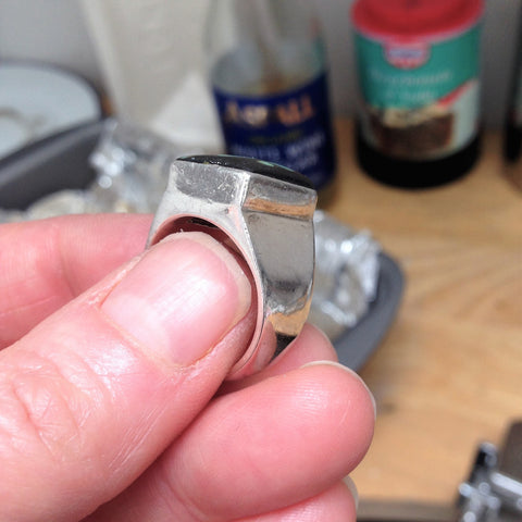 Clean ring after the bath to remove tarnish