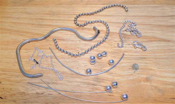 The raw materials used for the multi chain braclet