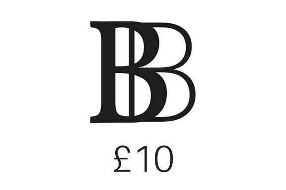 The Brash Bijoux gift voucher of £10