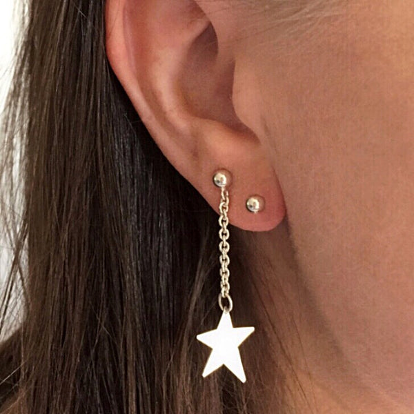 Star Dangle Studs