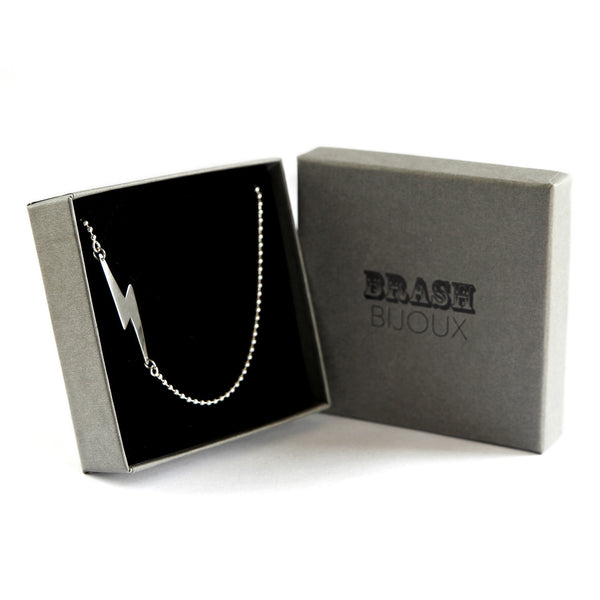 David Bowie inspired Bolt Necklace, Rock On!