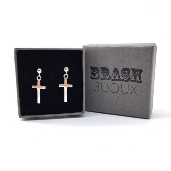 Cross studs in gift box
