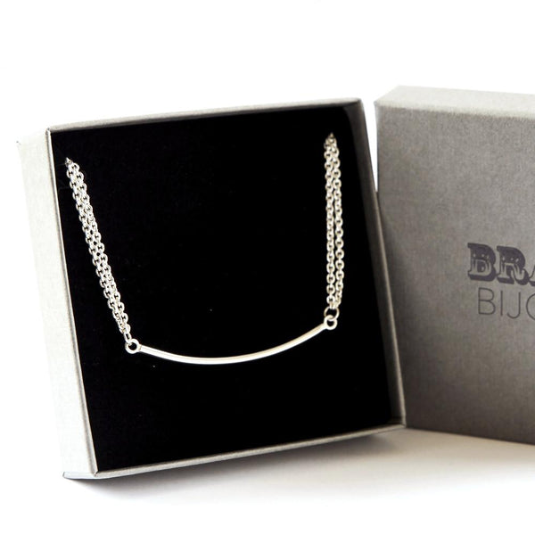 Double Chain Necklace & Bar