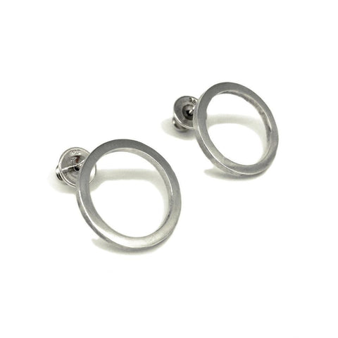 Silver Hoops with a difference from Brash Bijoux