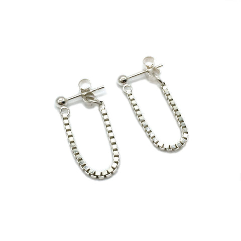 Mirror Dangle Studs