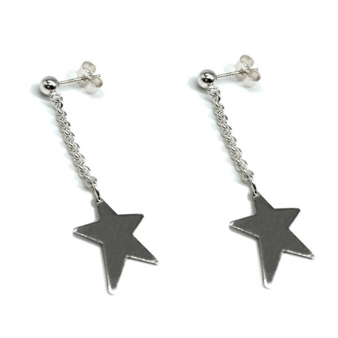 The Star Dangle Studs from Brash Bijoux are the must have earrings of the season