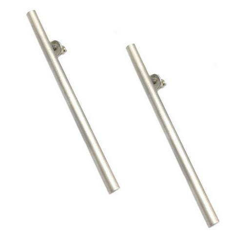 The Statement Studs from Brash Bijoux. Long Solid silver bar studs for when you want to stand out