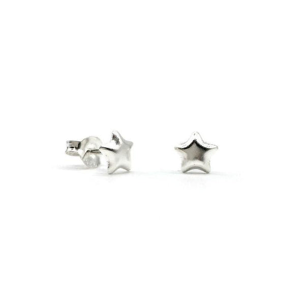 Tiny Silver Star Studs. Part of the Brash Basics range. Great to give as gift to someone with star quality