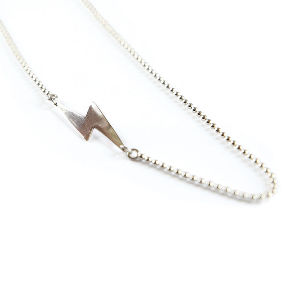 The lightning bolt necklace, Bowie inspired and very rock n roll!