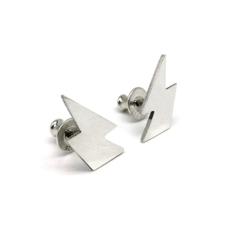 Hand-cut silver bolt studs, wear with an attitude!