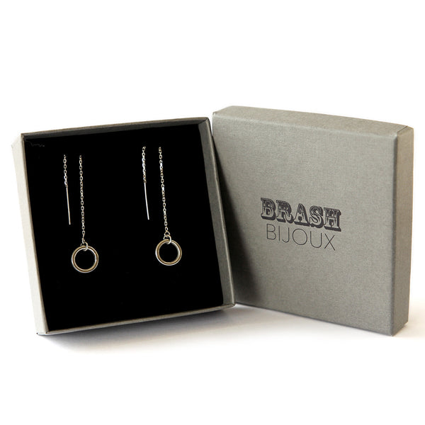 The circle dangle come in a branded gift box - its the perfect gift fr her