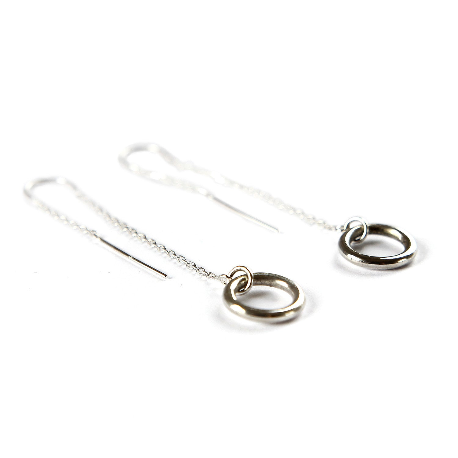 The Circle Dangle earrings from Brash Bijoux - the go to everyday earring with an edge