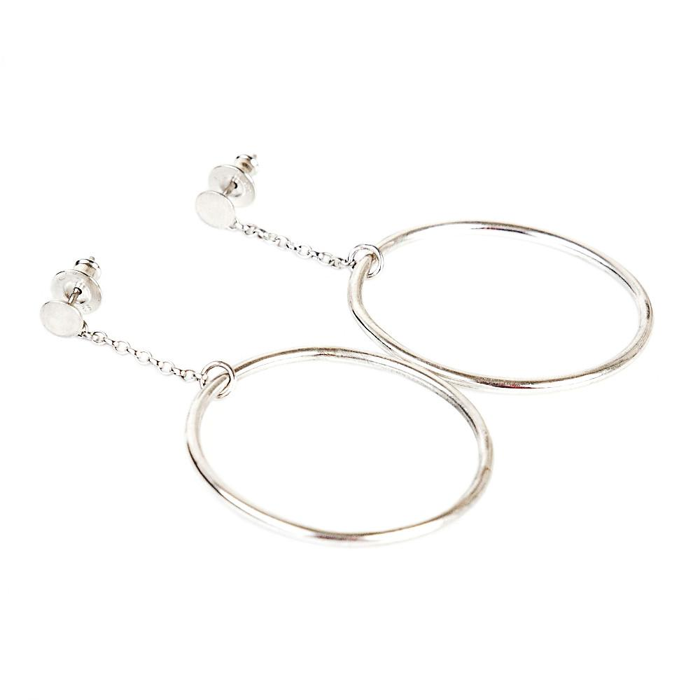 Large Hoop Dangle Earrings